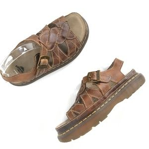 Dr. Martens Leather Brown Fisherman Sandals W 10